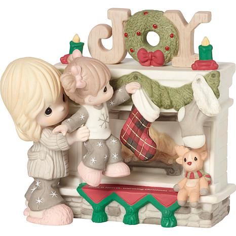 Precious Moments Hearth Warming Christmas Mother-Daughter Figurine