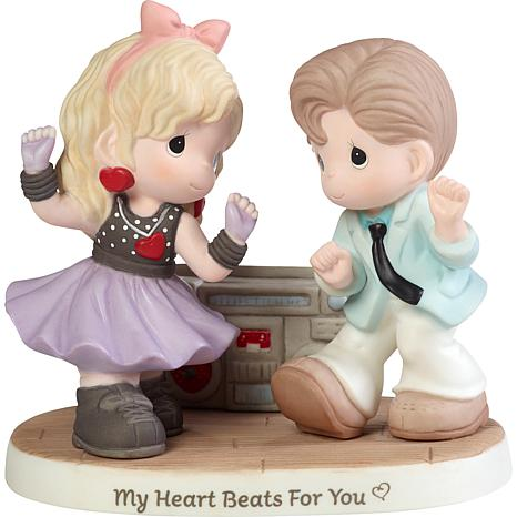 Precious Moments My Heart Beats For You Bisque Porcelain Figurine