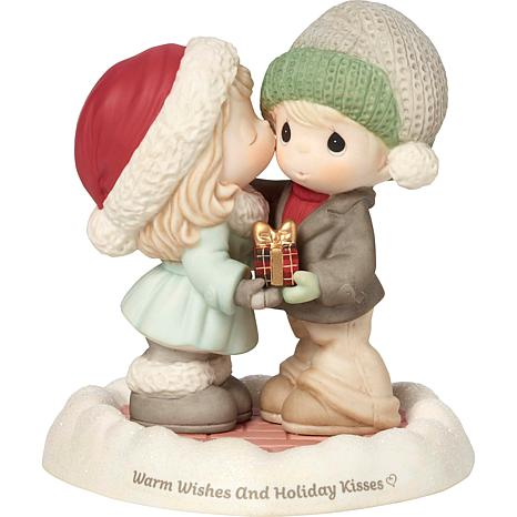 """Precious Moments """"Warm Wishes And Holiday Kisses"""" Figurine"""