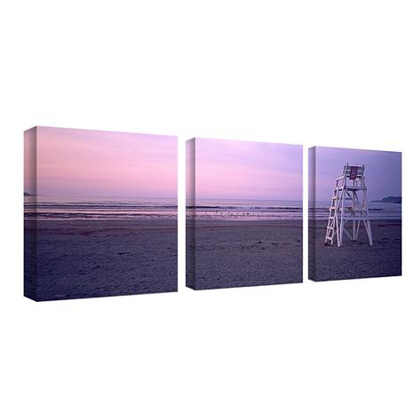 Preston 'Beach Chair' Canvas Art - Set of 3 Panels