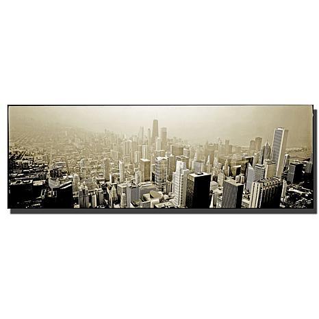 """Preston """"Chicago Skyline"""" Canvas Art - 12"""" x 32"""""""
