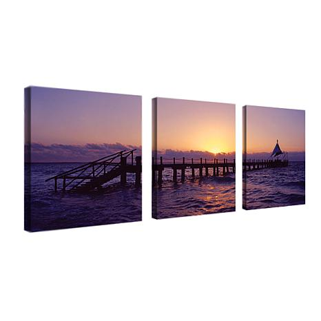Preston 'Seascape' Canvas Art - Set of 3 Panels
