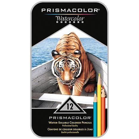 Prismacolor Watercolor Pencil Tin - 12-piece Set