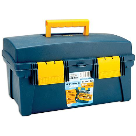 Pro Art Storage Box with Inner Tray - Blue/Yellow