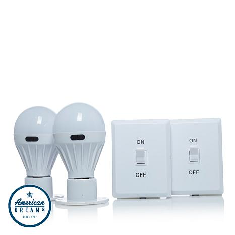 Promier COB LED Wireless Remote PortaBulb 2-pack