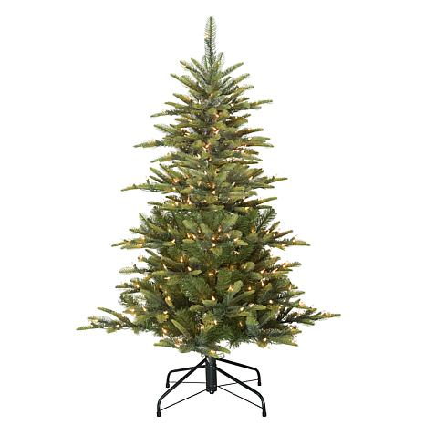 Puleo 4 1 2 Ft Pre Lit Arctic Fir Artificial Christmas Tree