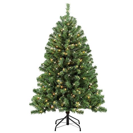Puleo 4.5 ft. Noble Fir Artificial Christmas Tree w/250 Clear Lights