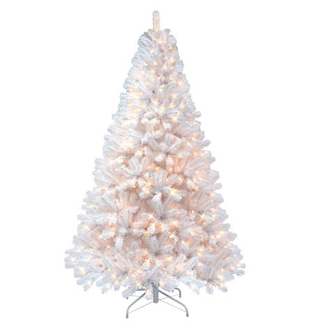 Puleo 7 1 2 Ft Pre Lit Arctic Fir Flocked Artificial Christmas Tree