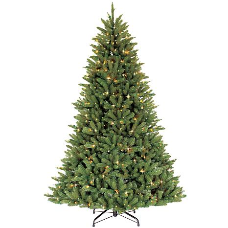 Puleo International 7.5' Pre-Lit Franklin Fir Christmas Tree