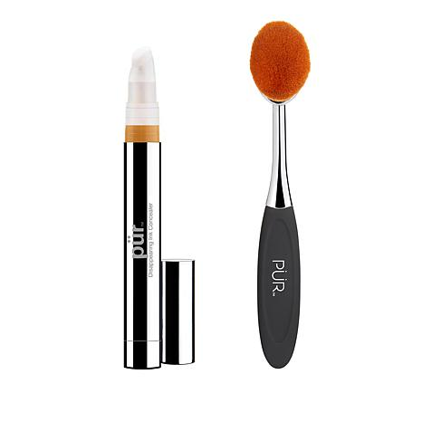 PUR Light Tan Disappearing Ink 4-in-1 Concealer with Brush