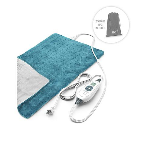 pure enrichment pure relief king size heating pad 8727678 hsn