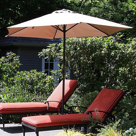 Pure Garden 9' Aluminum Patio Umbrella with Auto-Crank