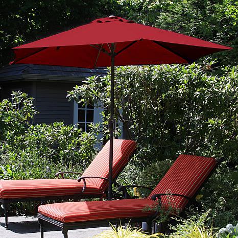 Pure Garden 9u0027 Aluminum Patio Umbrella With Auto Crank