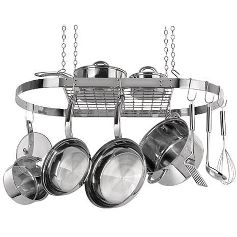 Range Kleen Stainless Steel Hanging Oval Pot Rack