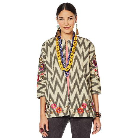 Rara Avis by Iris Apfel Embroidered Dolman Jacket