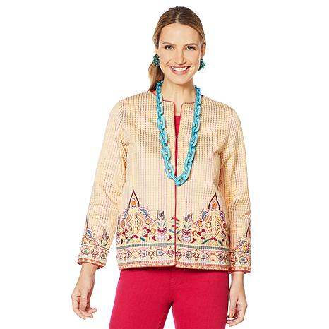 Rara Avis by Iris Apfel Embroidered Short Jacket