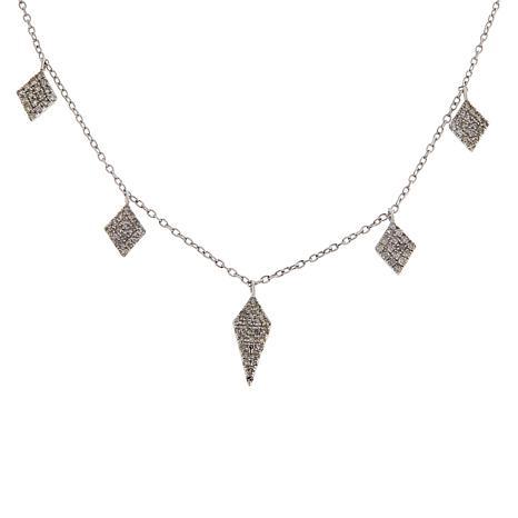 Rarities 0.75cttw White Diamond Drop Necklace