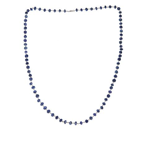"""Rarities Blue Moonstone Faceted Bead 36"""" Necklace"""