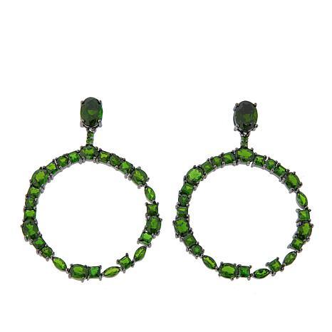 Rarities Chrome Diopside Round Drop Earrings