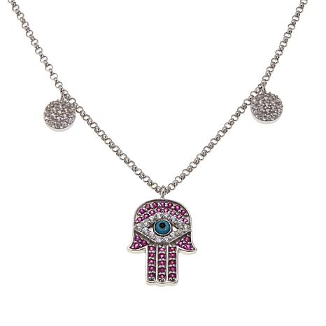Rarities Evil Eye/Hamsa Hand Pendant with Rolo Chain