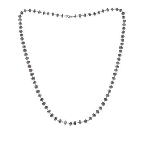 "Rarities Metallic-Coated Moonstone Beaded 36"" Necklace"