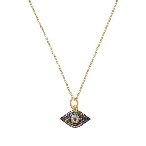 Rarities Multigem Evil Eye Pendant  Necklace