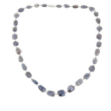 "Rarities Platinum-Colored Moonstone 30"" Necklace"