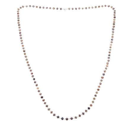 "Rarities Port-Colored Coated Moonstone 52"" Necklace"