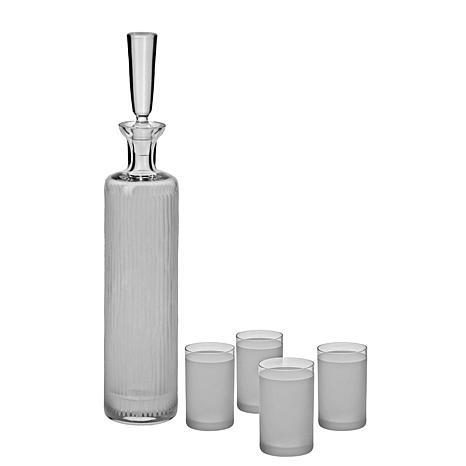 Ravenscroft Crystal 5pc Vodka Decanter Shot Glass Set