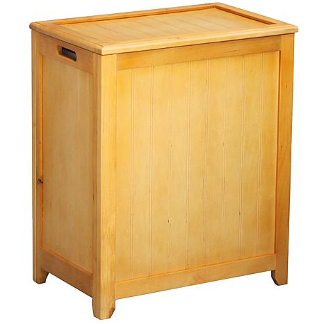 Rectangular Wainscott Wood Laundry Hamper