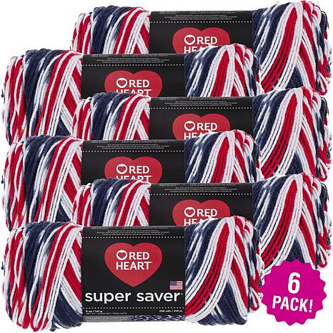 Red Heart Super Saver Yarn 6-pack - Americana