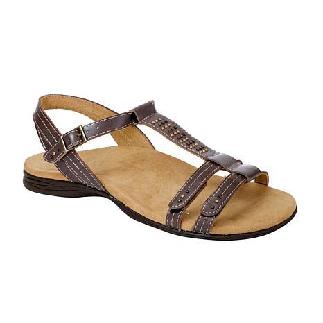 Revitalign Flora T-Bar Full Grain Leather Sandal