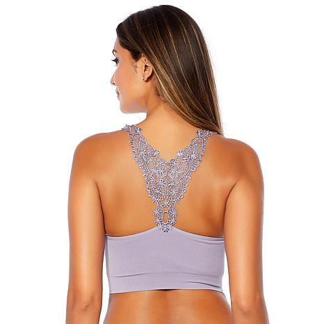 Rhonda Shear Ahh Bra with Crochet Back and Removable Pads