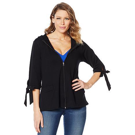 Rhonda Shear Zipper Front Jacket