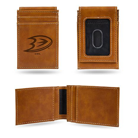 Rico Ducks Laser-Engraved Brown Front Pocket Wallet