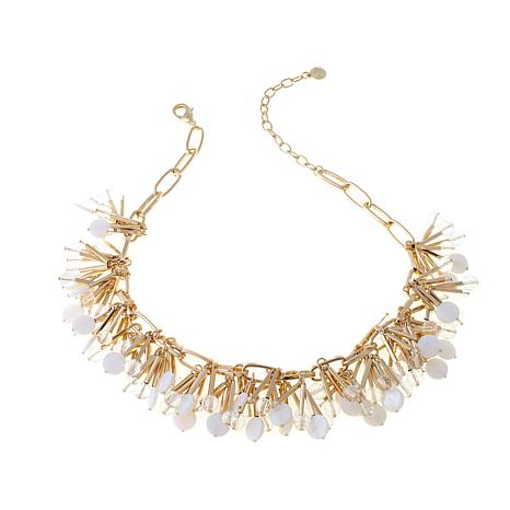 "R.J. Graziano ""Light the Way"" Spiky Cluster Necklace"