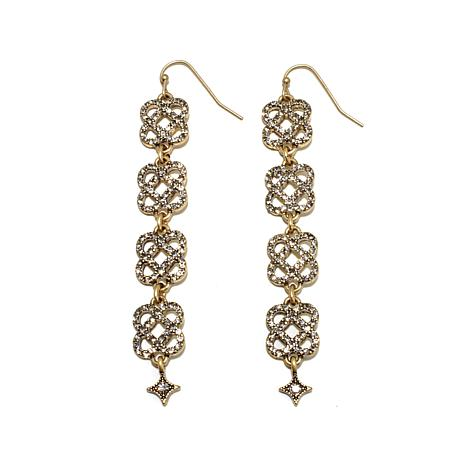"""R.J. Graziano """"Live for Lux"""" Knot Drop Pavé Earrings"""