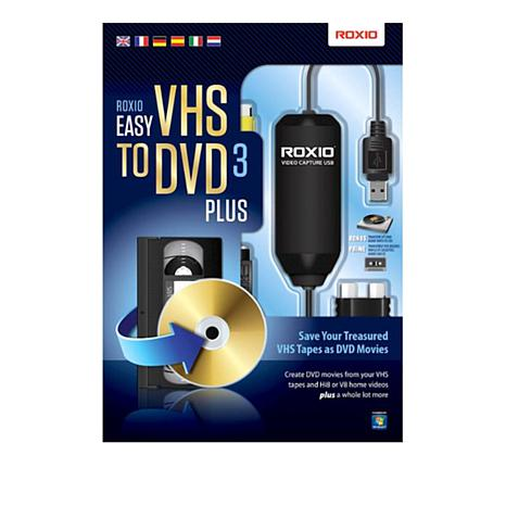 Roxio VHS to DVD 3 Plus Digital Transfer for PC - 8762637 | HSN