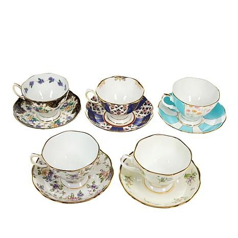 Royal Albert 100 Years Collection 10pc Cup & Saucer Set - 1900 to 1940