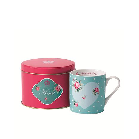 Royal Albert New Country Roses Mugs In Tins - Heart