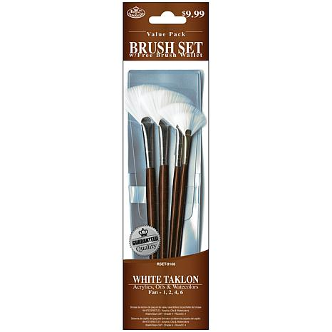 Royal Langnickel Brush Set 4pc Value Pack White Taklon