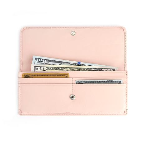 Royce Leather Personalizable RFID Blocking Clutch Wallet