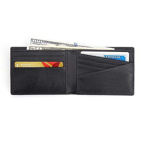 "Royce Personalized ""100-Step"" RFID-Blocking Wallet"