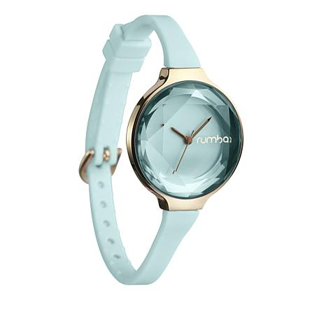 RumbaTime Orchard Mini Mint Green Silicone Strap Watch