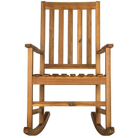 Safavieh Barstow Rocking Chair - Teak Brown Finish