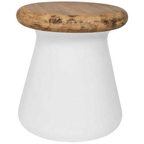 Safavieh Button Concrete Accent Table - Ivory