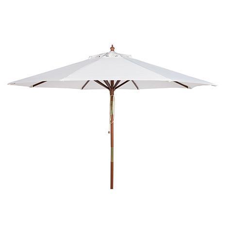 Safavieh Cannes 9' Wooden Outdoor Umbrella
