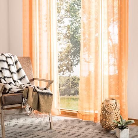 "Safavieh Dafni Window Panel - Light Orange - 52"" x 84"""