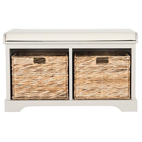 Safavieh Freddy Wicker Storage Bench 8328110 Hsn