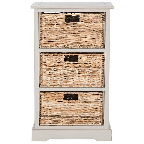 Preferred Safavieh Halle 3 Wicker Basket Storage Side Table - 8328111 | HSN AR37